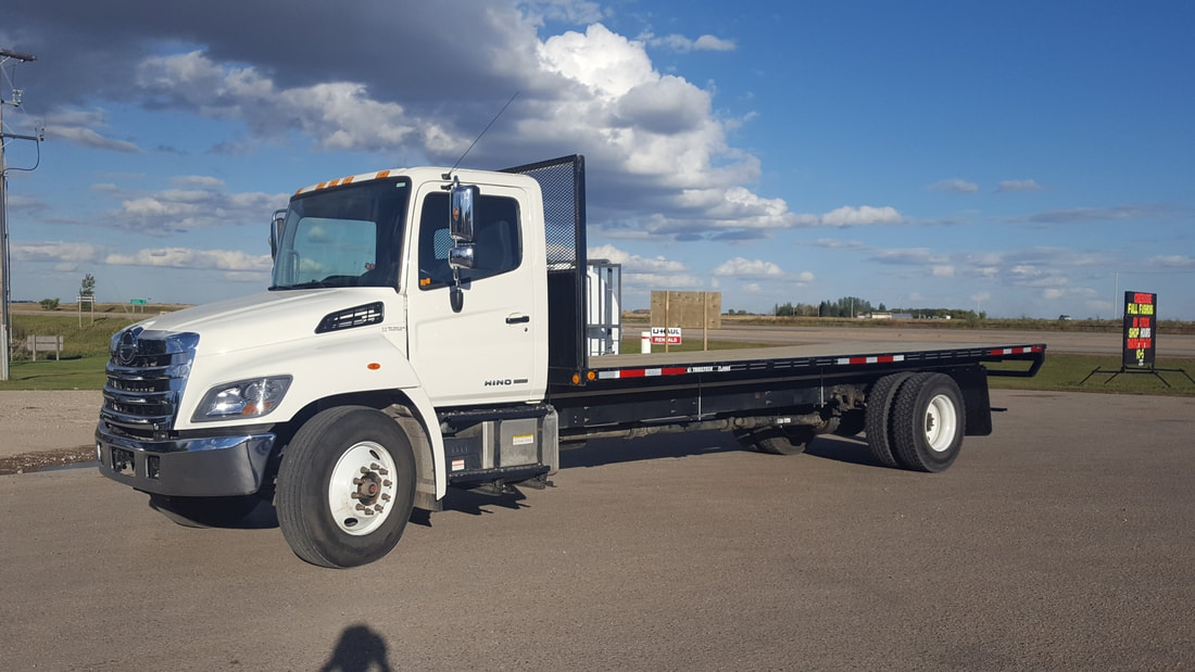 One of the flatbed hotshot trucks in PR Premiums fleet